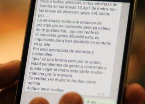 La Policía investiga los mensajes que alertaban falsamente de una bomba en Metro