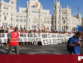 Miles de 'indignados' recorren el centro de Madrid
