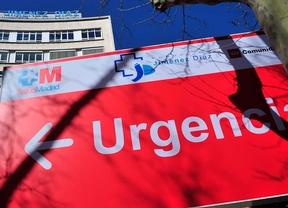 Entrada a Urgencias en un hospital madrileño