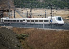 un tren AVE circulando