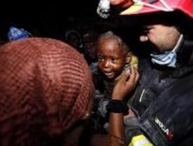 Primeros rescates de los bomberos madrileños