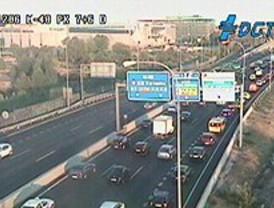 La M-40 dificulta el tráfico en este miércoles