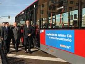 Montecarmelo enlaza con Plaza de Castilla con la ampliación de una línea de la EMT