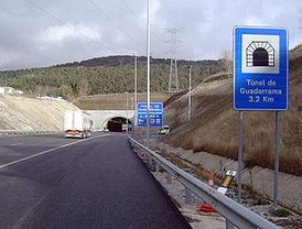 Abiertos los túneles de Guadarrama