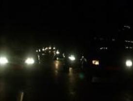 Nueva carretera provisional para el acceso nocturno de camiones a Valdemingómez