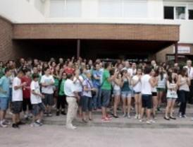 Protesta en el IES Dámaso Alonso por la posible supresión del Bachillerato de Ciencias