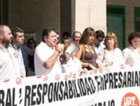 Concentración en Leganés por la muerte de dos trabajadores en el municipio