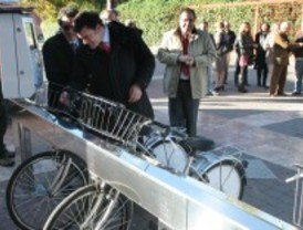 Leganés inaugura cinco nuevas bases del sistema de préstamo de bicicletas 'enbici'