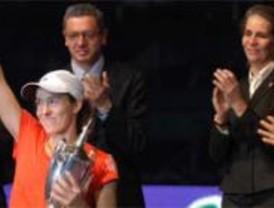 Gallardón en la final del Master femenino de Tenis