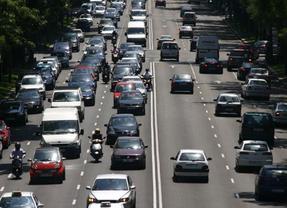 Pequeñas retenciones en las carreteras de salida de Madrid