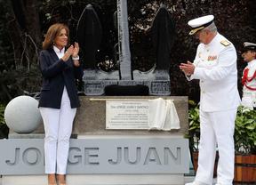 Ana Botella inaugura el monumento a Jorge Juan