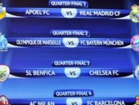 El Real Madrid se enfrentará al APOEL chipriota en los cuartos de final de la Champios