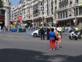 Los cortes de tráfico seguirán el lunes en el centro