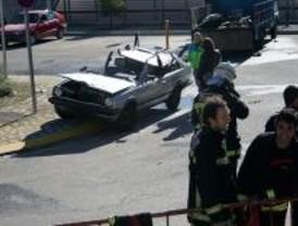 Simulan la explosión de un camión pirotécnico en Cercanías