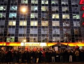 Protesta de los sindicatos de tierra de Iberia