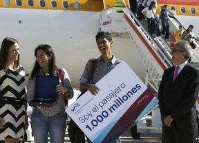 Barajas recibe a su pasajero 1.000 millones
