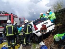 Siete heridos, dos de ellos graves, tras un accidente en la M-608