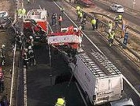 Sesenta heridos en tres accidentes múltiples en la A-42