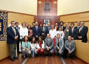 José de la Uz, nuevo alcalde de Las Rozas, y su equipo