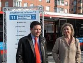 La línea 11 de la EMT se amplía hasta Sor Ángeles de la Cruz y Marqués de Viana
