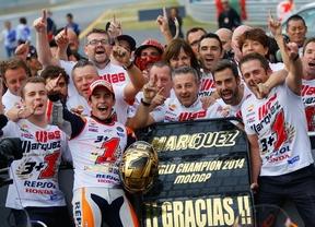 Márquez conquista su segunda corona y Lorenzo gana en Japón