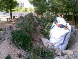 CCOO denuncia la destrucción de un jardín en la Casa de Campo