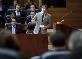 El presidente de la Comunidad de Madrid, Ignacio González, durante su intervención en la Asamblea