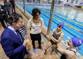 Ignacio González en la piscina Mundial 86.