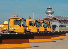El aeropuerto, preparado para el invierno