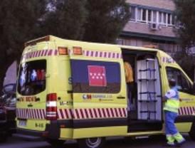Herida grave tras chocar con un autobús en Leganés
