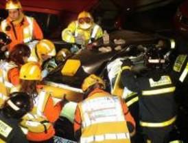 Un fallecido y tres heridos en un accidente frontal en la M-501