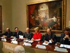 Aguirre firma un convenio con el Prado para exponer obras de Velázquez y Goya