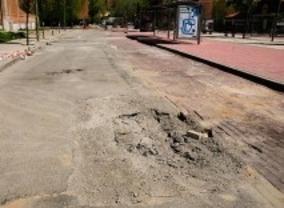 El suelo vuelve a ceder en Moratalaz