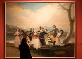 Exposición 'Cartones para tapices' de Goya en el Museo del Prado.