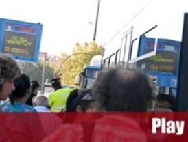 Jornada tranquila en la huelga de transporte