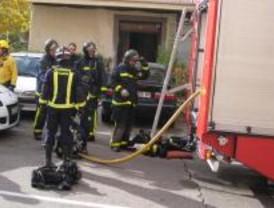 Cinco heridos por un incendio en Aluche