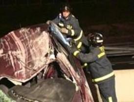 Un accidente cuádruple en la M-40 provoca un muerto y cuatro heridos