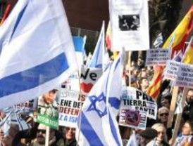 Unas 3.000 personas se concentran en apoyo al ataque a Gaza