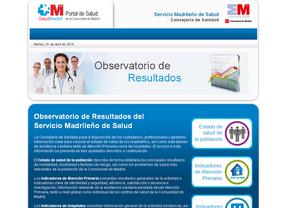 Portal de Salud en la web de la Comunidad de Madrid