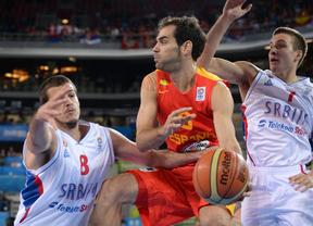 Partido de la selección española contra Serbia