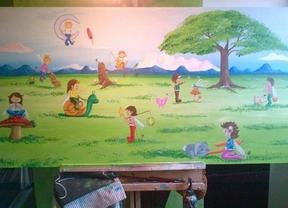 Dibujos y color en las habitaciones de infantil del 12 de Octubre