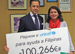 Entrega de 100.266 euros a Unicef para ayuda a Filipinas
