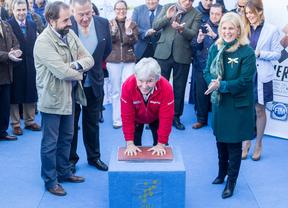 Ángel Nieto inaugura el Paseo de la Fama en Jerez