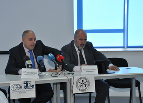 Julio Moreno, pte. AGATM y Mariano Sánchez, pte. FPT