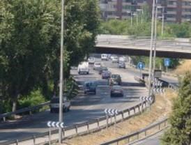 Poco tráfico en las calles madrileñas