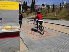 Nueva señalización para las bicis en Madrid Río