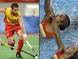 España se cuelga la plata en natación sincronizada y en hockey