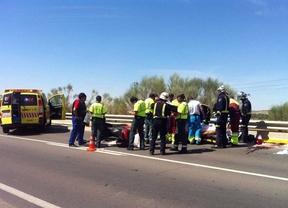 Dos heridos en un accidente de moto en la M-506