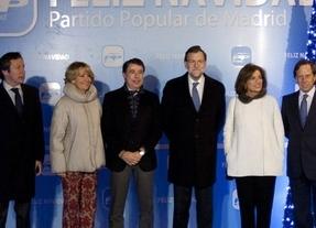 Mariano Rajoy, Carlos Floriano, Esperanza Aguirre, Ignacio González, Ana Botella e Ignacio García
