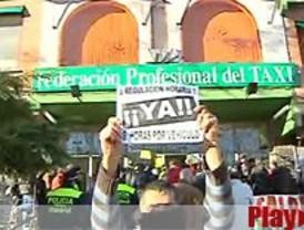 Incidentes en la visita de Gallardón a los taxistas